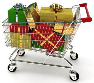 Christmas-shopping-trolley